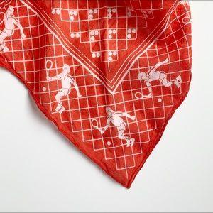 cheery 80s kerchief with tennis motif